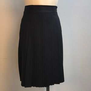 Theory Black Pleated Skirt